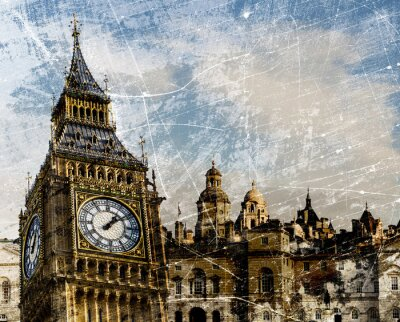 Poster Londres compor Vintage