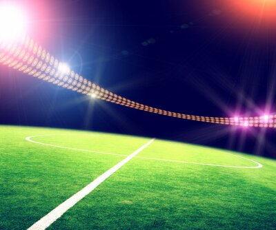 Poster Luzes do estádio e flashes