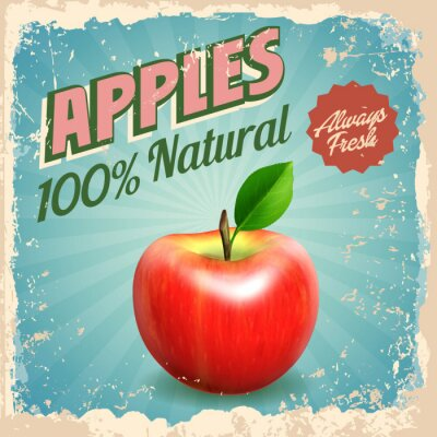 Poster maçãs