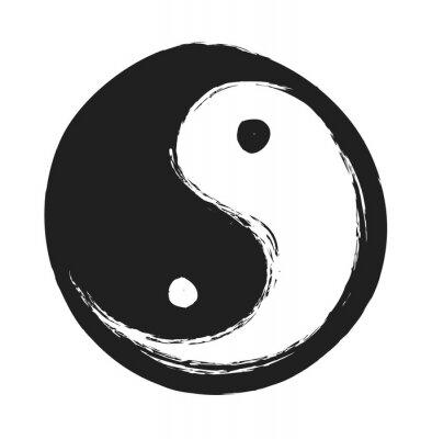 Poster Mão, ying, ying, yang, símbolo, harmonia, equilíbrio ...
