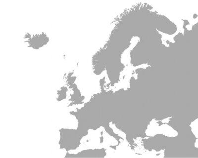 Poster mapa detalhado da Europa