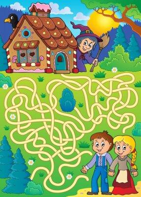 Poster Maze 30 com tema Hansel e Gretel