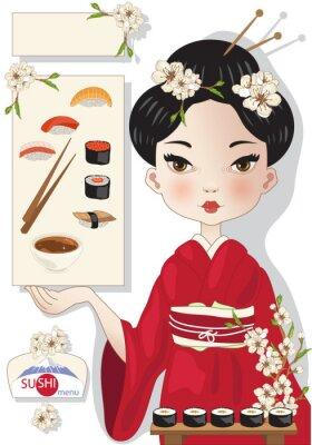 Poster Menu de Sushi