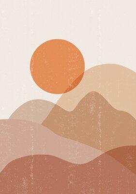 Poster Mid century sunset print boho minimalist printable wall art