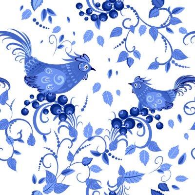 Poster moda textura sem emenda com flores estilizadas