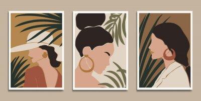 Poster Modern art prints in boho style. Eps10 vector.