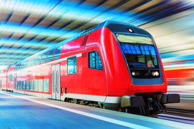 Poster Modern comboio de alta velocidade