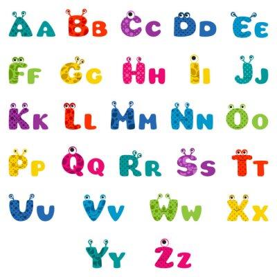Poster Monstro dos desenhos animados alfabeto