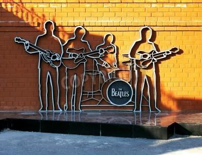 Poster Monumento aos Beatles em Ekaterinburg, Rússia