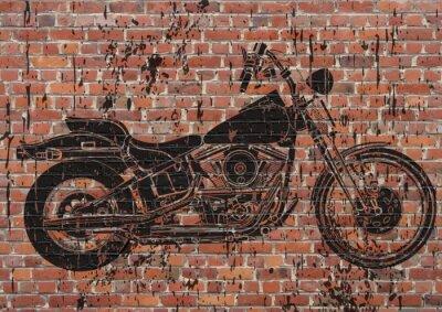 Poster Moto grunge sportster