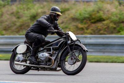Poster Motocicleta histórica no circuito Masaryk Brno