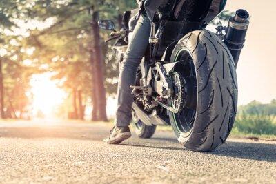 Poster motociclista moto e pronto para montar