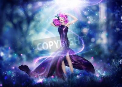 Poster Mulher bonita da fada da fantasia, retrato da arte da forma