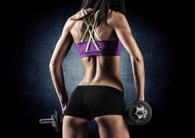 Poster Mulher da aptidão desportiva no treinamento