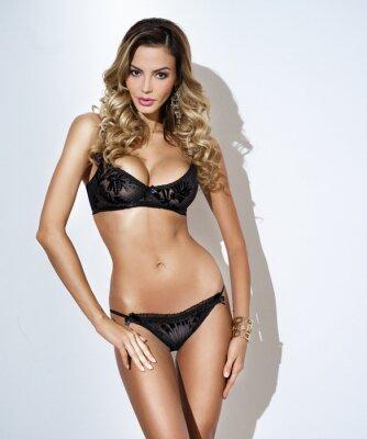 Poster mulher em lingerie moda