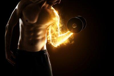 Poster Músculos ardentes