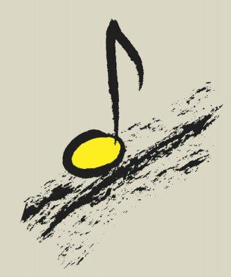 Poster Música conceito nota musical, design logo