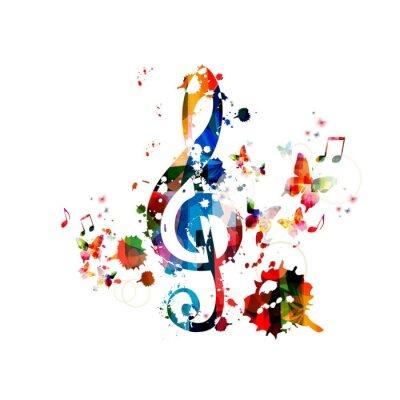 Poster Música de fundo colorido