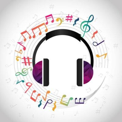 Poster Música e design de som