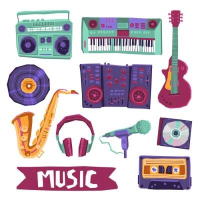 Poster Música Icon Set
