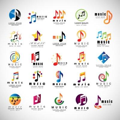 Poster Música Icons Set - Isolado No Fundo cinza