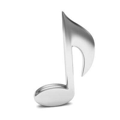 Poster Música nota 3D, em branco