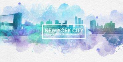Poster New York City é onde os sonhos são feitos Cartao Postal