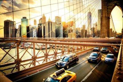 Poster New York City, Ponte de Brooklyn skyline