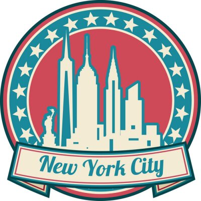 Poster New York City skyline