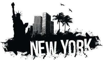 Poster Nova Iorque Banners preto