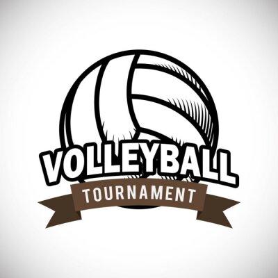 Poster O design do voleibol