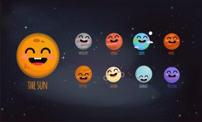 Poster O sistema solar ilustração vetorial