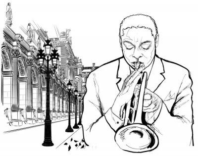 Poster O trompetista em Paris