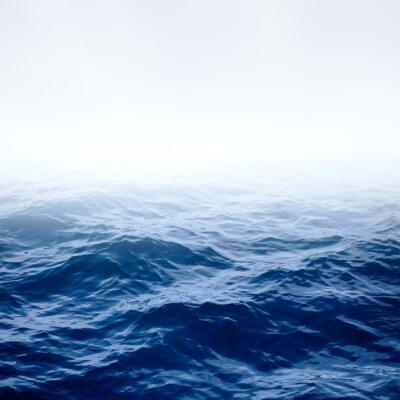 Poster Oceano azul claro e céu