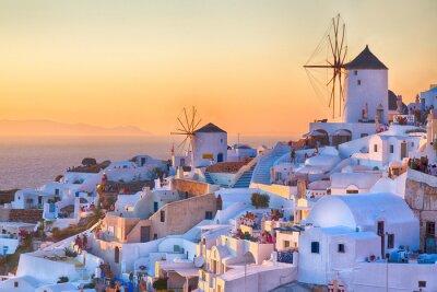 Poster Oia por do sol, ilha de Santorini, Grécia