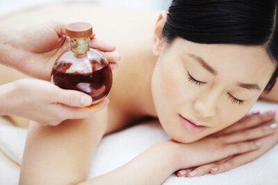 Poster Óleo aromático para massagem