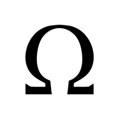 Poster Omega Symbol