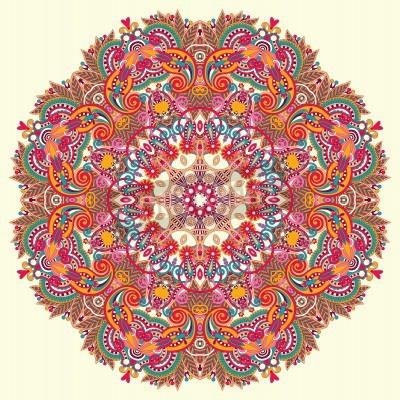 Poster Ornamento Circle, laço redondo decorativo