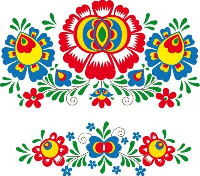 Poster Ornamentos folclóricos