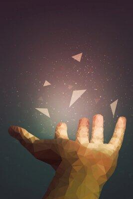 Poster Os humanos são mais poderosos do que eles pensam, sua mão pode curar ou fazer o objeto voar no ar