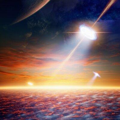 Poster OVNI no céu