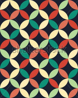 Poster Padrão de círculos de travesseiro de moda hipster abstratas geométricas