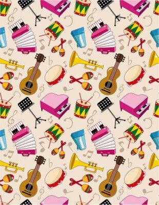 Poster padrão sem emenda da música
