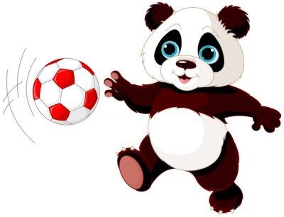 Poster Panda bate na bola
