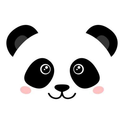 Poster Panda bonito da cara