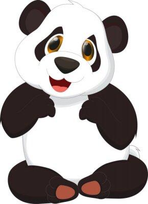 Poster panda bonito dos desenhos animados