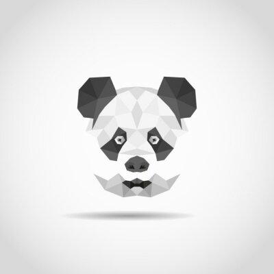 Poster Panda moderna em estilo poligonal
