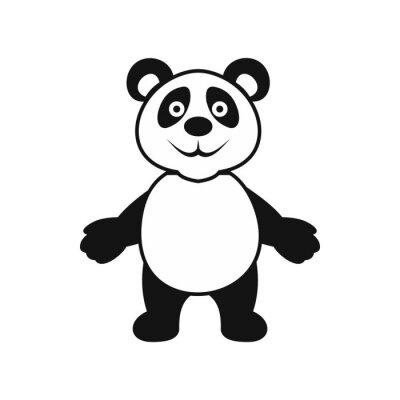 Poster Panda urso ícone, estilo simples
