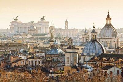 Poster Panorama da cidade velha em Roma, Itália