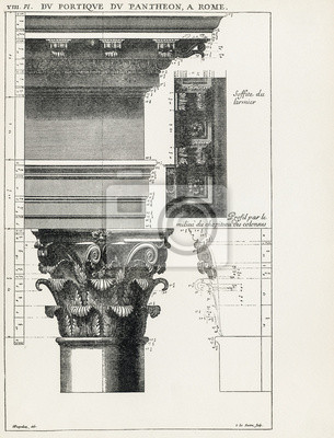 Poster Panteão de Roma VIII